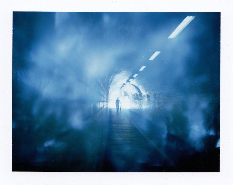 2017.kapplen.Belfast tunnel cyclist