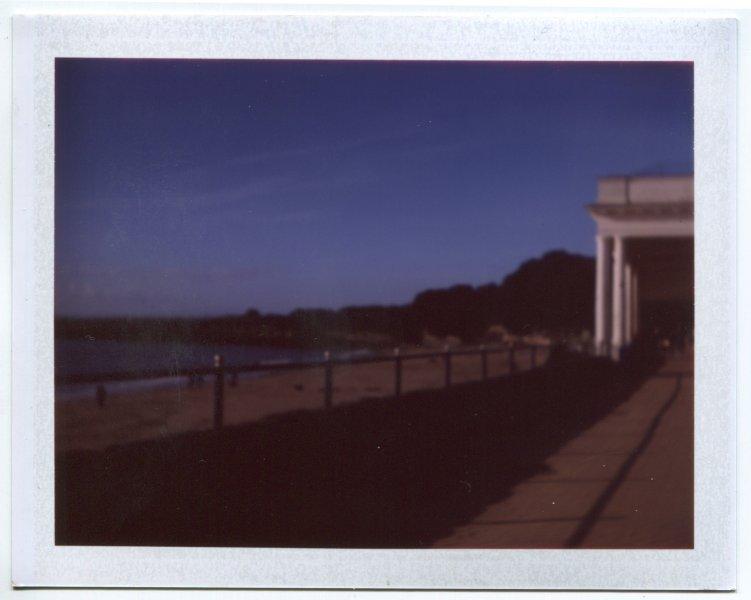Barry Beach deep blue skies