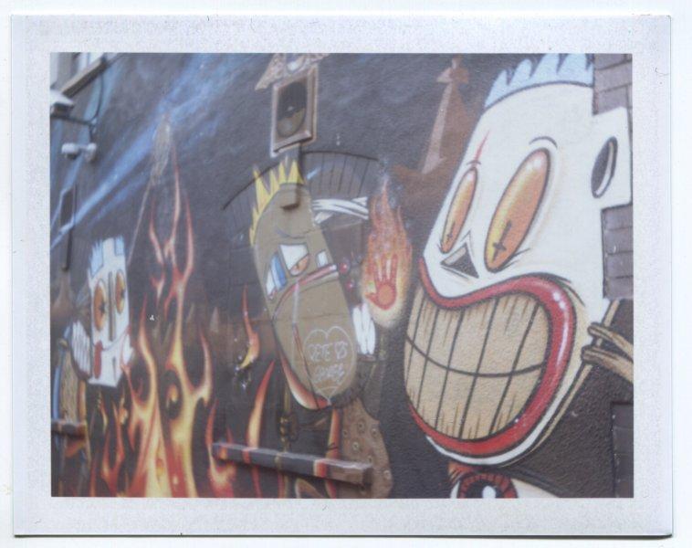 Bristol Graffiti Wide smile